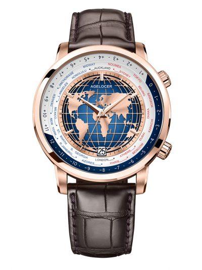 Đồng Hồ Nam Agelocer World time 5201D2